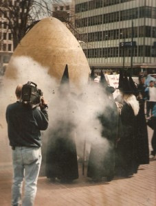 entering the egg