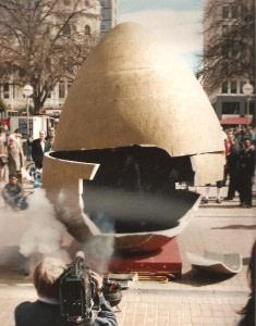 the egg begins vibrating